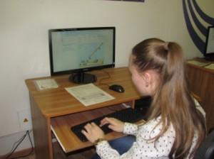 В кабинете информатики